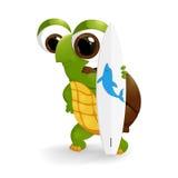 Glückliche Schildkrötenkarikatur Stockfotos