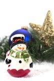 Glückliche Schneemannandenken Stockfoto