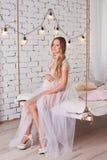 Glückliche schwangere Frau Stockfoto