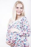 Glückliche schwangere Frau Stockbild