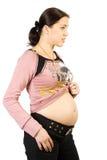 Glückliche Schwangerschaftfrauen stockfotografie