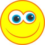 Glückliche smiley-Ikone lizenzfreie abbildung