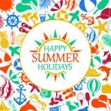 Glückliche Sommerferien Lizenzfreies Stockbild