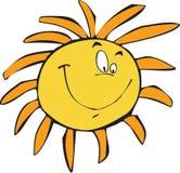 Glückliche Sonne Stockfotos