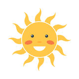 Glückliche Sonnenikone Lizenzfreie Stockfotografie
