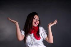 Glückliche sorglose Frau Lizenzfreies Stockfoto