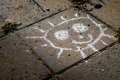 Glückliche Straßenkunst - LÄCHELN Lizenzfreies Stockfoto