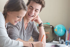 Glückliche Studenten Lizenzfreies Stockbild