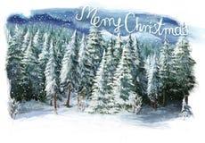 Glückliche Szene des Weihnachtswinters Stockbilder