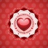 Glückliche Tagesbeschriftung Gruß-Karte des Valentinsgruß-s Lizenzfreie Stockfotos