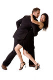 Glückliche Tanzenpaare Stockbild