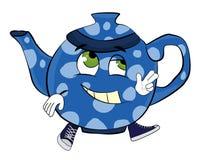 Glückliche Teekannenkarikatur Lizenzfreie Stockbilder
