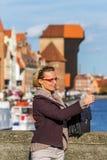 GLÜCKLICHE Touristen Lizenzfreie Stockfotos