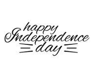 Glückliche Unabhängigkeitstaggrußkarte Auch im corel abgehobenen Betrag Lizenzfreie Stockfotos