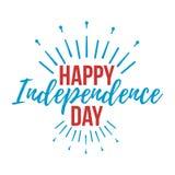 Glückliche Unabhängigkeitstaggrußkarte Auch im corel abgehobenen Betrag Lizenzfreies Stockfoto