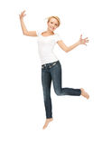 Glückliche und sorglose Jugendliche Lizenzfreies Stockbild