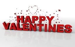 Glückliche Valentinsgrüße stock abbildung