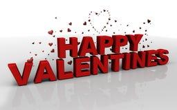 Glückliche Valentinsgrüße lizenzfreie abbildung