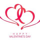 Glückliche Valentinsgruß-Karte Stockbild