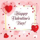 Glückliche Valentinsgruß `s Tagesgrußkarte Lizenzfreie Stockfotos
