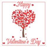 Glückliche Valentinsgruß `s Tagesgrußkarte stock abbildung