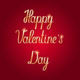 Glückliche Valentinsgruß ` s Tageshandzeichnungs-Beschriftung Lizenzfreie Stockfotografie