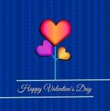 Glückliche Valentinsgruß ` s Tageskarte Vektorillustration Lizenzfreies Stockfoto