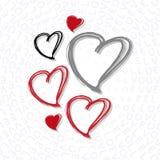 Glückliche Valentinsgruß ` s Tagesschablone Stockfotos