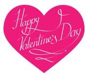 Glückliche Valentinsgruß-Tagesbeschriftung für senkt vektor abbildung
