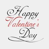 Glückliche Valentinsgruß-Tagesbeschriftungs-Karte Stockfotografie