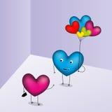 Glückliche Valentinsgruß-Tageskarte Lizenzfreies Stockfoto