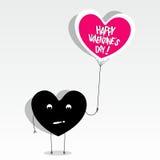 Glückliche Valentinsgruß-Tageskarte Stockfotografie