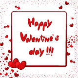 Glückliche Valentinsgruß-Tageskarte mit Herzen und Pfeilen Lizenzfreie Stockbilder