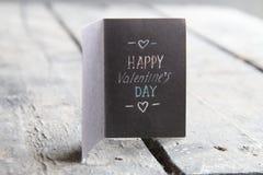 Glückliche Valentinsgruß-Tageskarte, Weinleseart Lizenzfreies Stockfoto