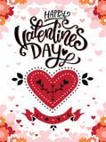 Glückliche Valentinsgruß-Tagesplakaterzeinladung stockfotos