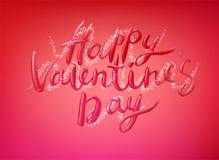 Glückliche Valentinsgruß-Tagesvektor-Beschriftung Lizenzfreies Stockbild
