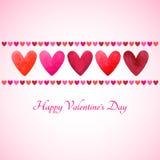 Glückliche Valentinsgruß-Tagesvektor-Grußkarte Stockfotografie