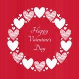 Glückliche Valentinsgruß-Tagesvektor-Grußkarte Lizenzfreie Stockfotografie
