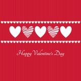 Glückliche Valentinsgruß-Tagesvektor-Grußkarte Lizenzfreie Stockbilder