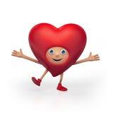 Glückliche Valentinsgrußinner-Zeichentrickfilm-Figur Lizenzfreies Stockfoto