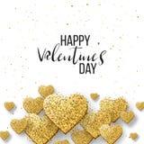 Glückliche Valentinsgrußtages- und -säuberngestaltungselemente Auch im corel abgehobenen Betrag Rosa Hintergrund mit Verzierungen Lizenzfreies Stockfoto