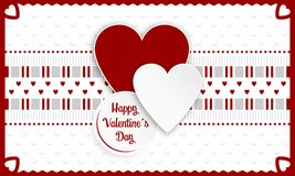 Glückliche Valentinsgrußtagesgrußkarte Stockfotografie