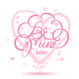 Glückliche Valentinsgrußtagesgrußkarte vektor abbildung