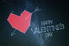 Glückliche Valentinsgrußtageskarte stockbild