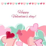 Glückliche Valentinsgrußtageskarte. vektor abbildung