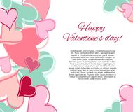 Glückliche Valentinsgrußtageskarte. Stock Abbildung