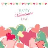 Glückliche Valentinsgrußtageskarte. Lizenzfreie Abbildung