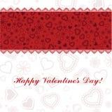 Glückliche Valentinsgrußtageskarte Lizenzfreies Stockfoto