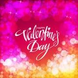 Glückliche Valentinsgrußtageskarte Auch im corel abgehobenen Betrag Stockfotografie