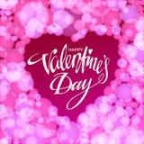Glückliche Valentinsgrußtageskarte Auch im corel abgehobenen Betrag Lizenzfreies Stockfoto